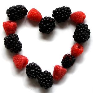 Heart of berries